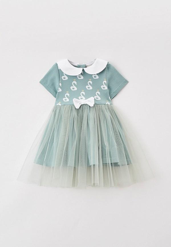 нарядные платье trendyco kids для девочки, зеленое