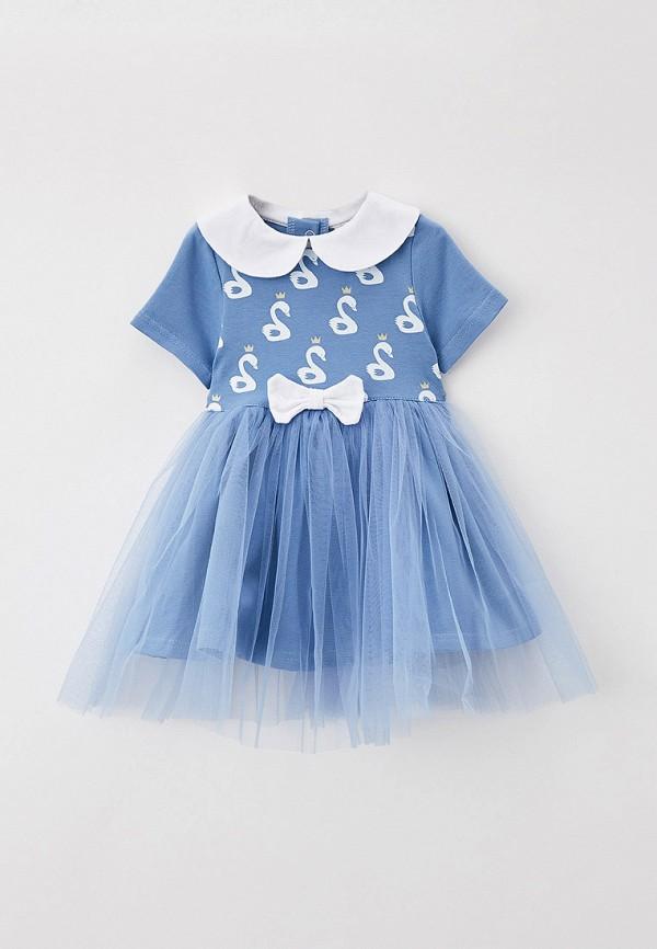повседневные платье trendyco kids для девочки, синее