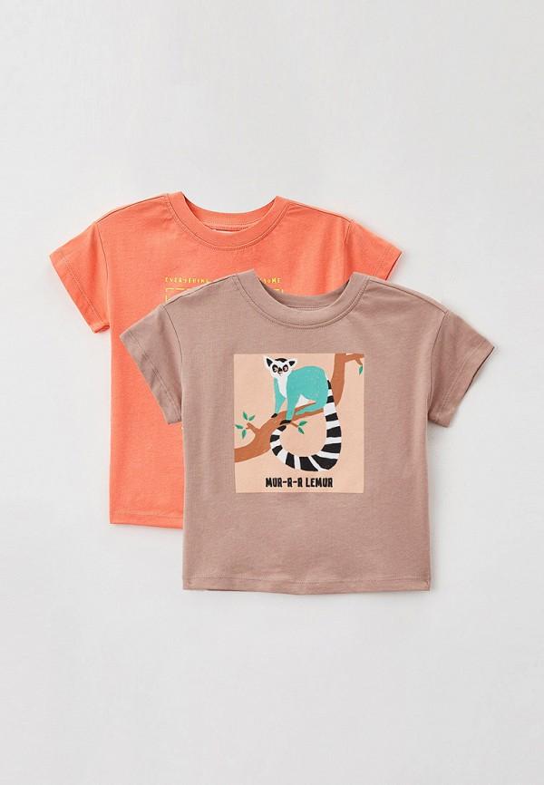 футболка с коротким рукавом sela для девочки, разноцветная