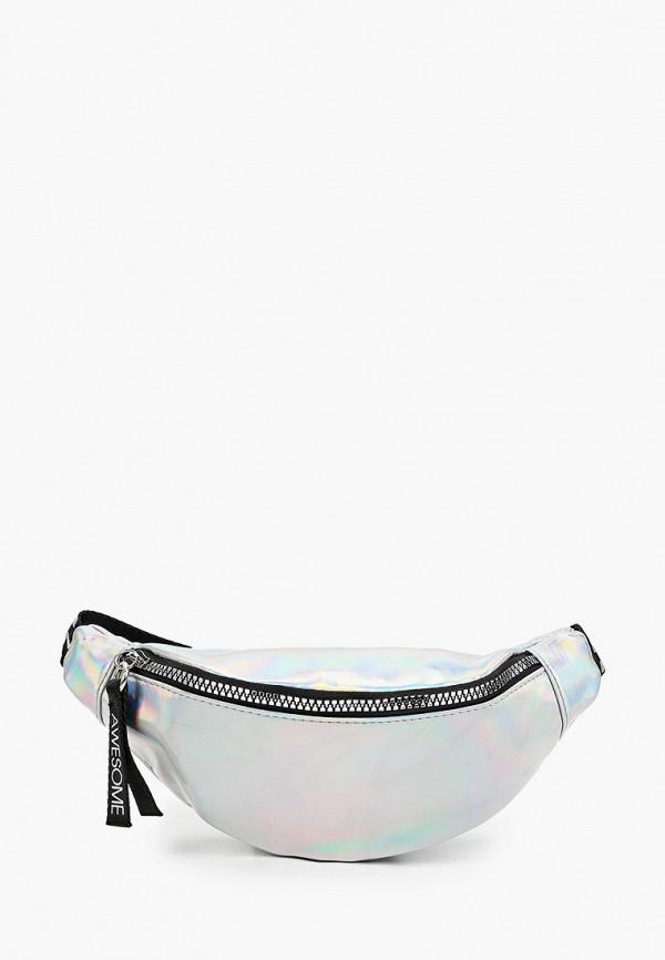 поясные сумка acoola для девочки, серебряная