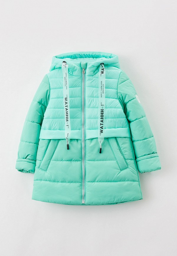 утепленные куртка артус для девочки, бирюзовая