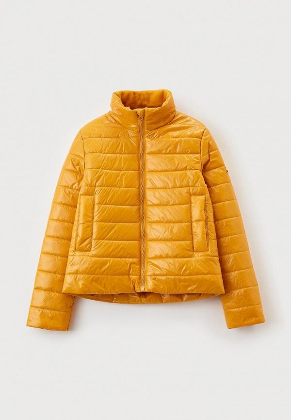 утепленные куртка артус для девочки, желтая