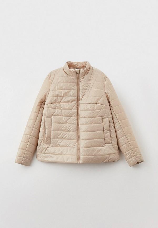 утепленные куртка артус для девочки, бежевая