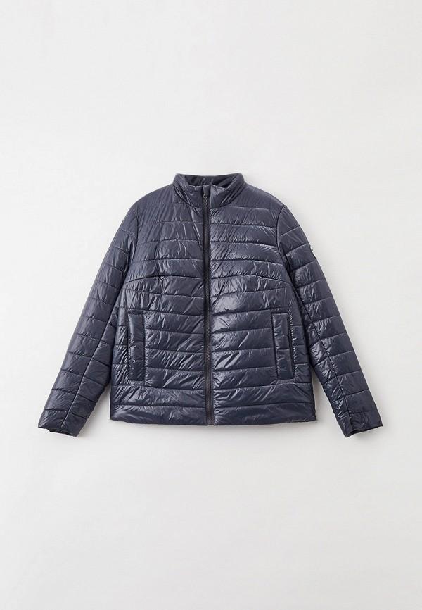 утепленные куртка артус для девочки, синяя