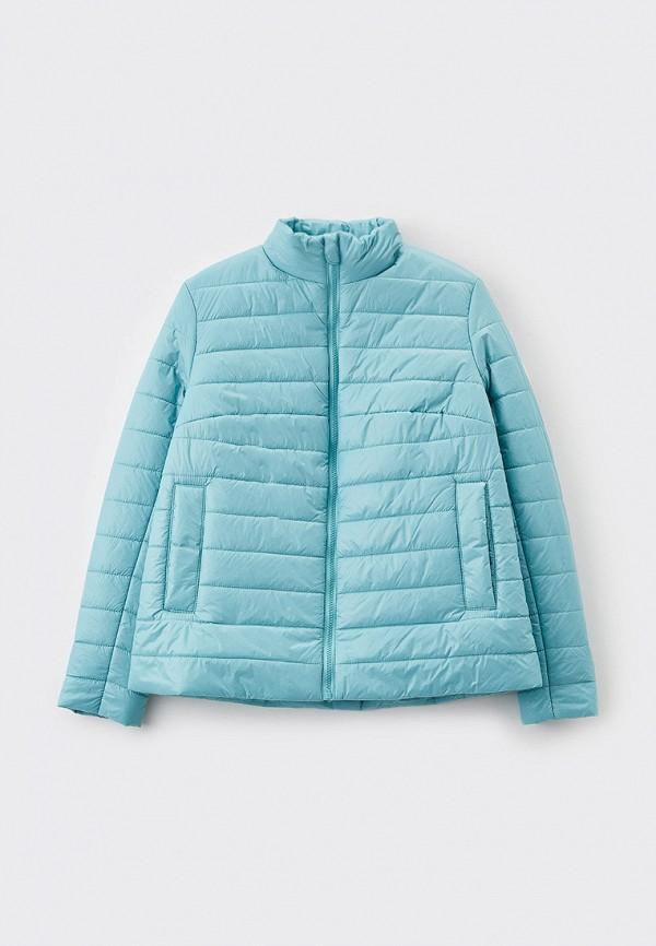 утепленные куртка артус для девочки, голубая