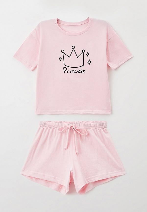 пижама happyfox для девочки, розовая