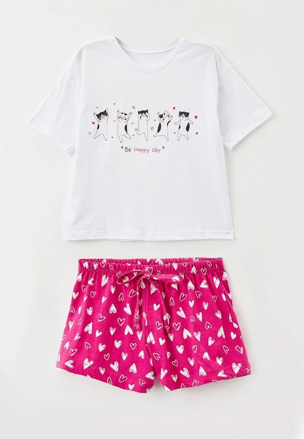 пижама happyfox для девочки, разноцветная
