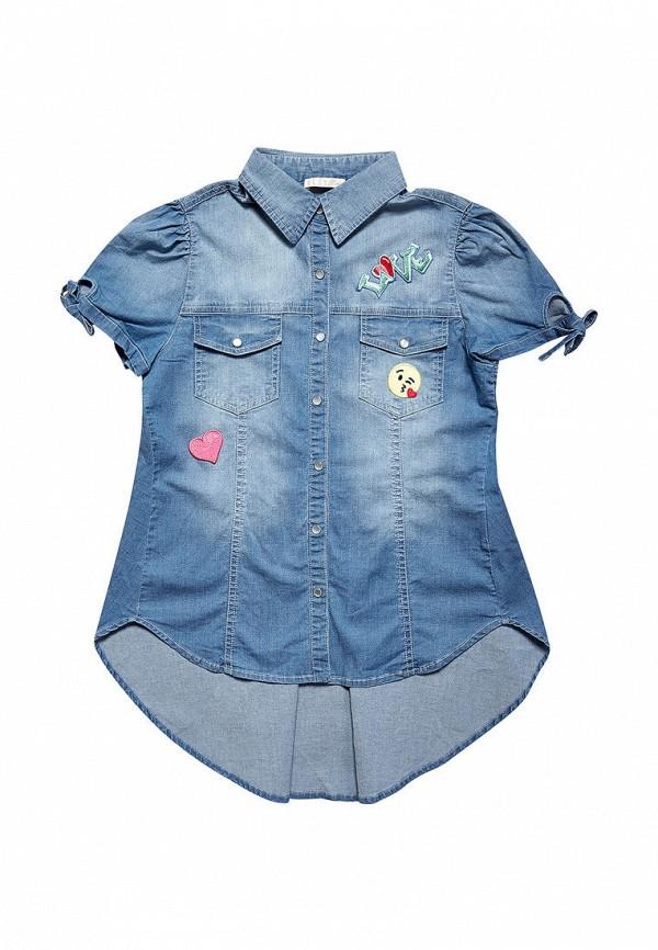 рубашка elsy для девочки, синяя