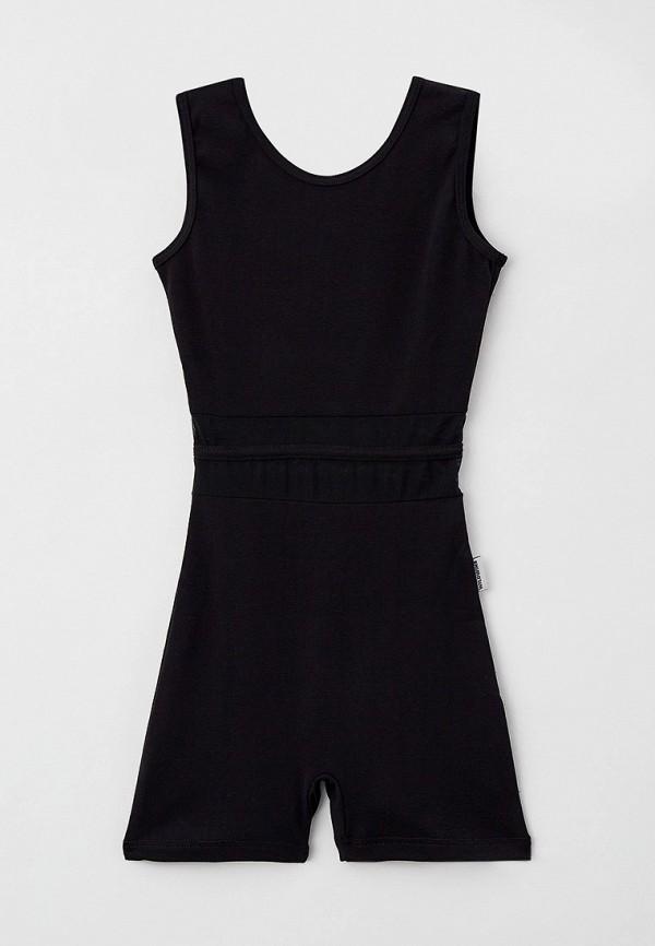 комбинезон с брюками wildwins для девочки, черный