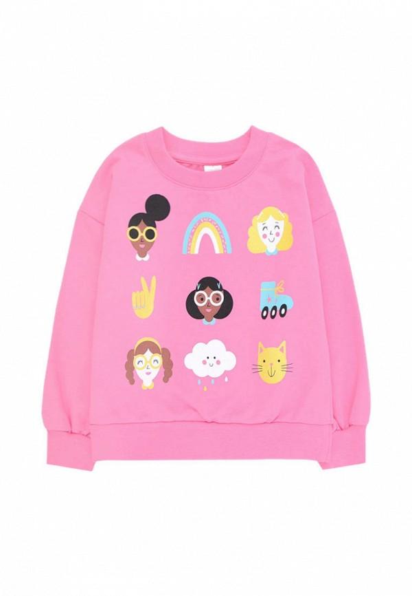 свитшот crockid для девочки, розовый