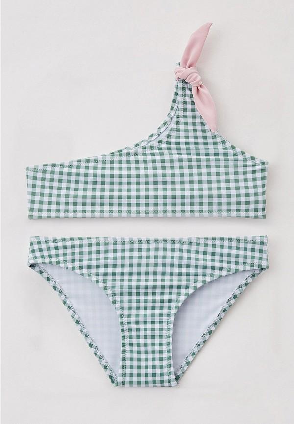 купальник sela для девочки, зеленый