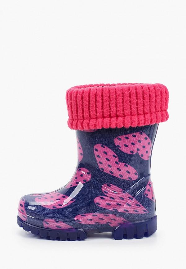 резиновые сапоги demar для девочки, розовые
