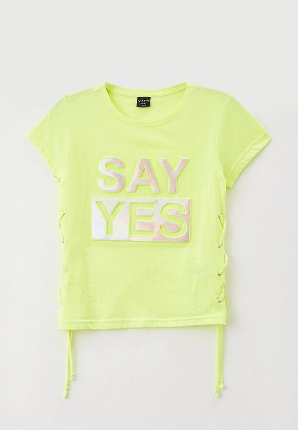 футболка с коротким рукавом o'stin для девочки, желтая