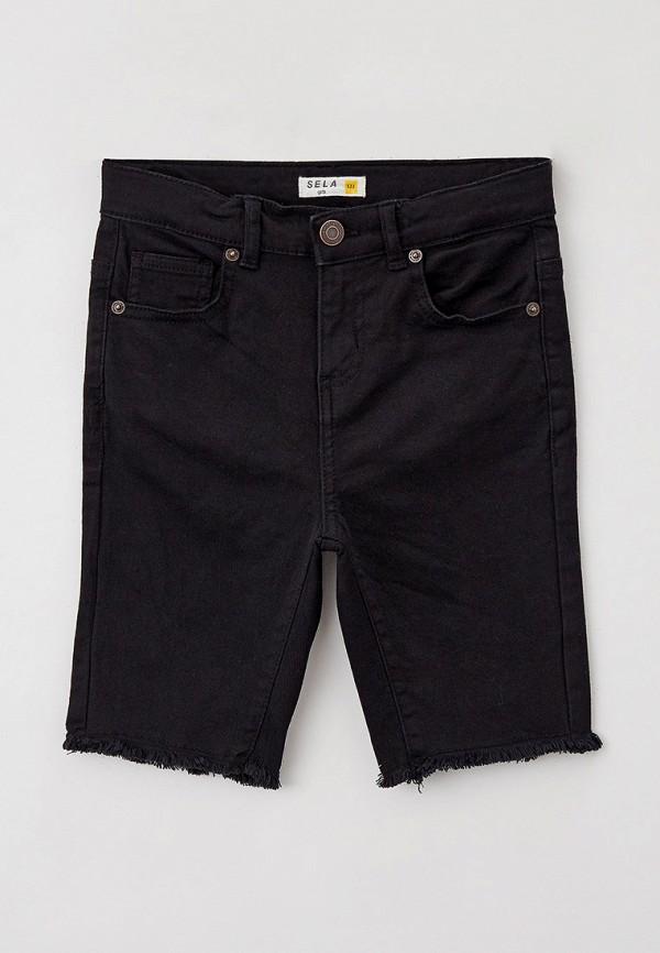джинсовые шорты sela для девочки, черные