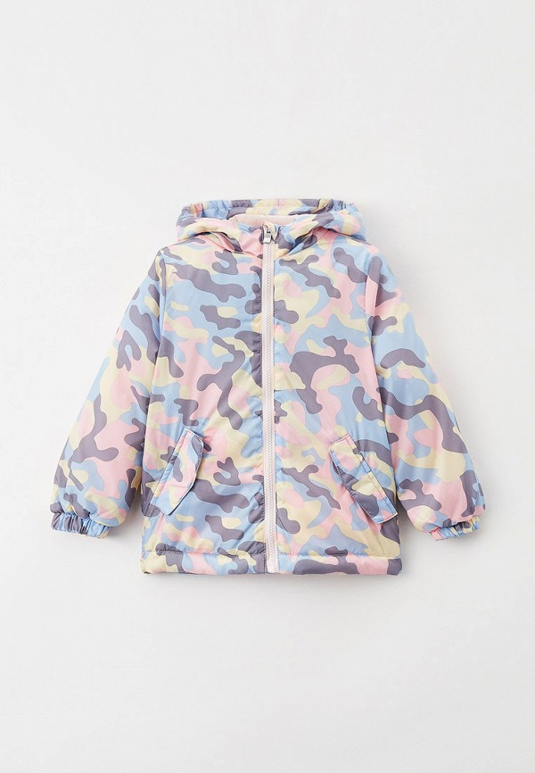 утепленные куртка acoola для девочки, разноцветная