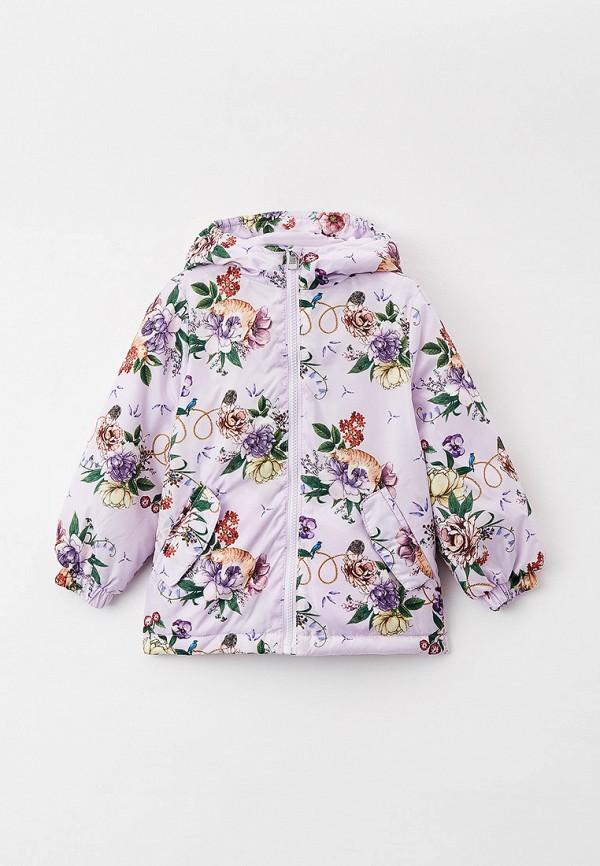 утепленные куртка acoola для девочки, фиолетовая