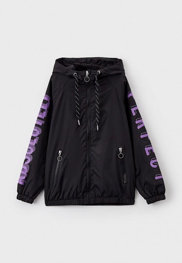 легкие куртка acoola для девочки, черная