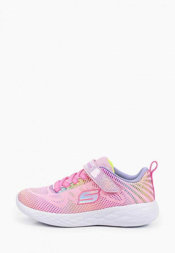 Кроссовки для девочки Skechers цвет розовый