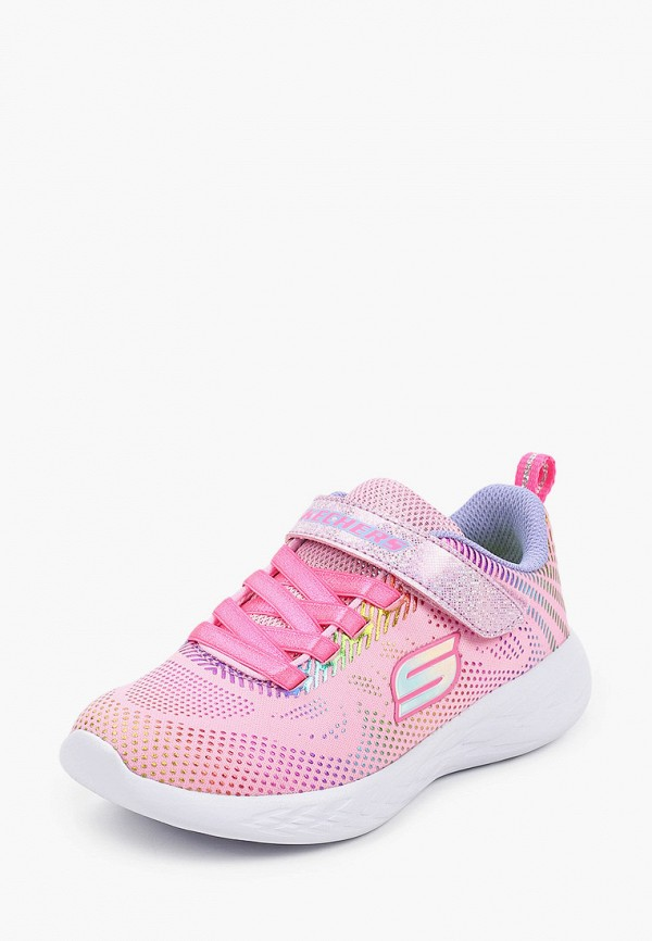 Кроссовки для девочки Skechers цвет розовый  Фото 2