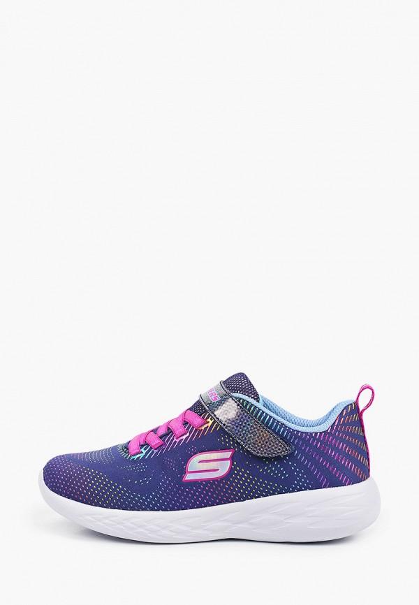 Кроссовки для девочки Skechers цвет синий