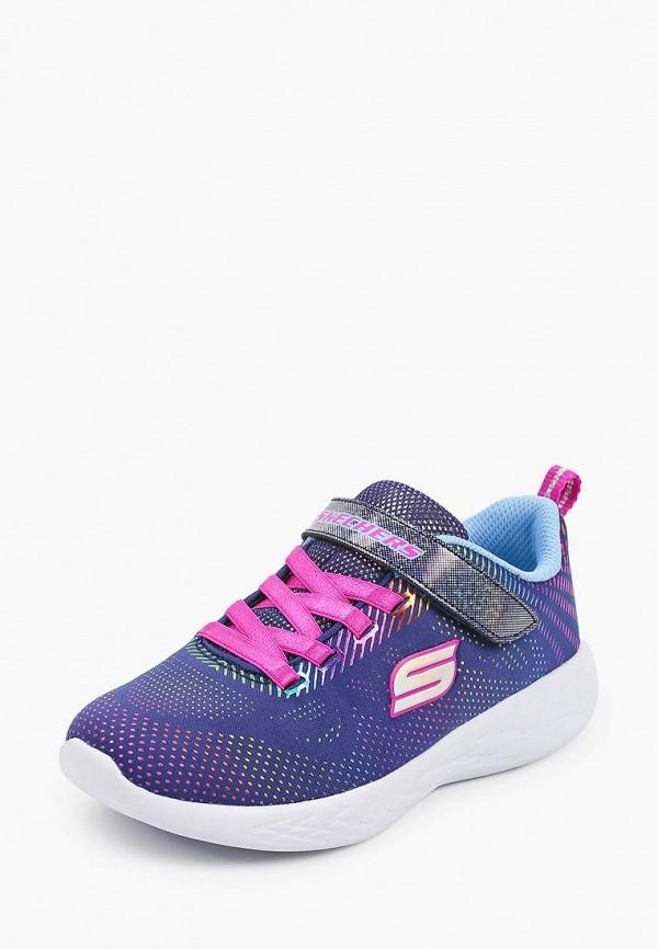 Кроссовки для девочки Skechers цвет синий  Фото 2