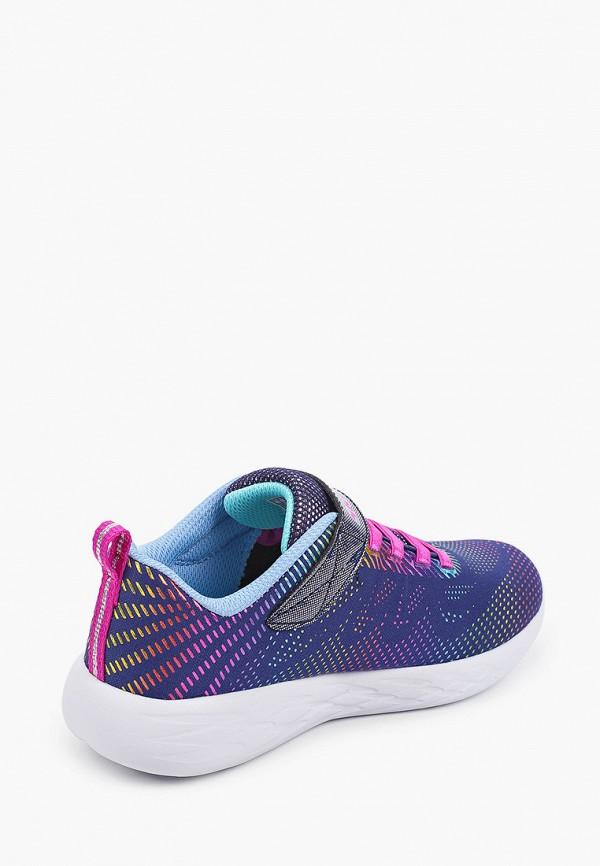 Кроссовки для девочки Skechers цвет синий  Фото 3