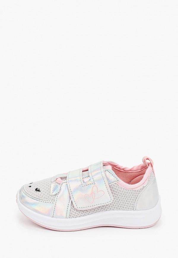 кроссовки shuzzi для девочки, серебряные