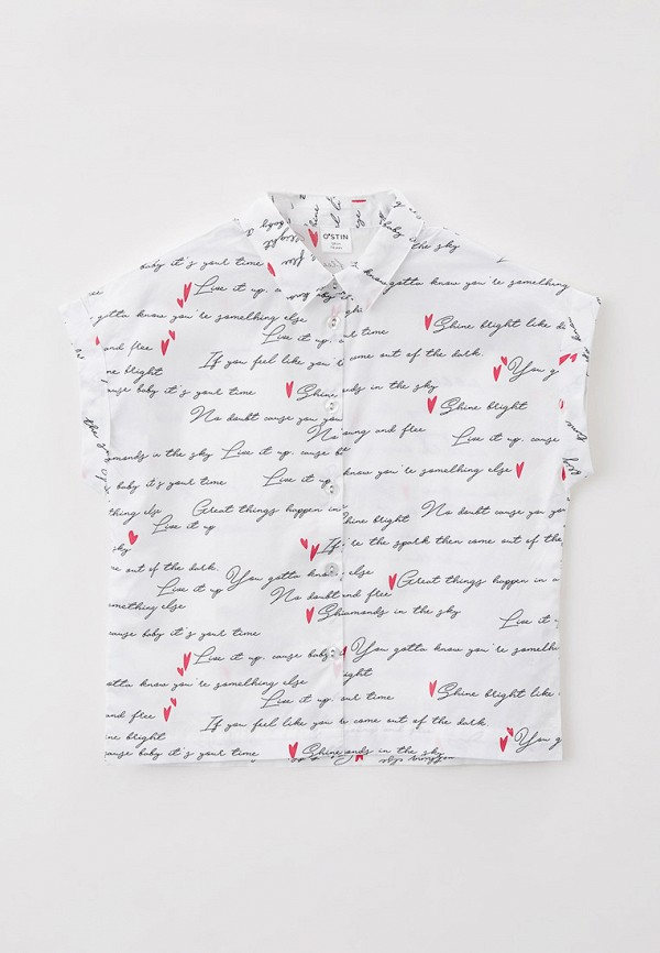 рубашка o'stin для девочки, белая
