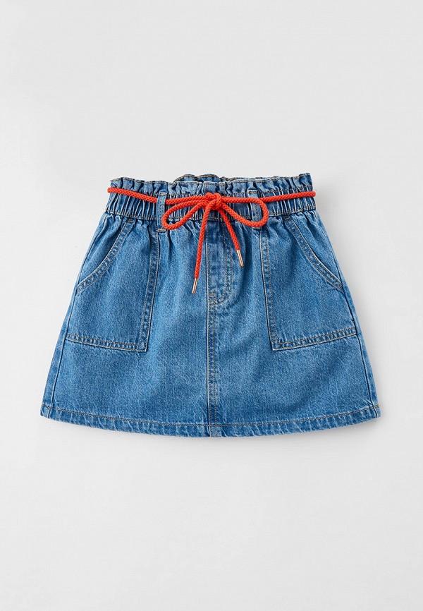 джинсовые юбка o'stin для девочки, синяя