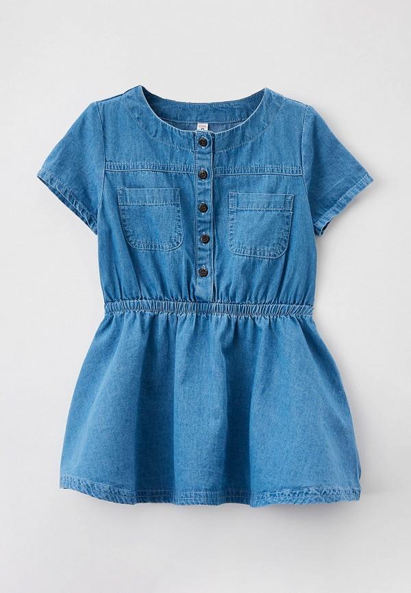 повседневные платье coccodrillo для девочки, голубое