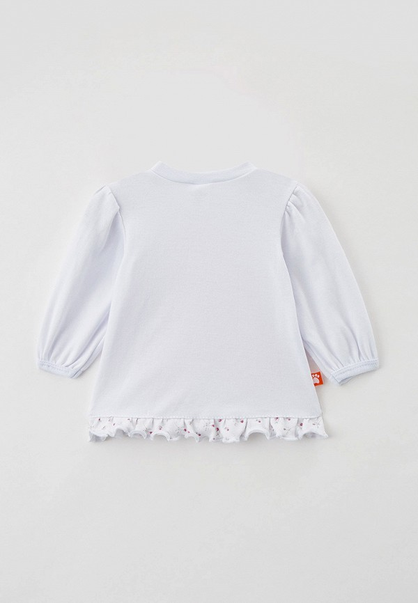 Лонгслив для девочки КотМарКот цвет белый  Фото 2