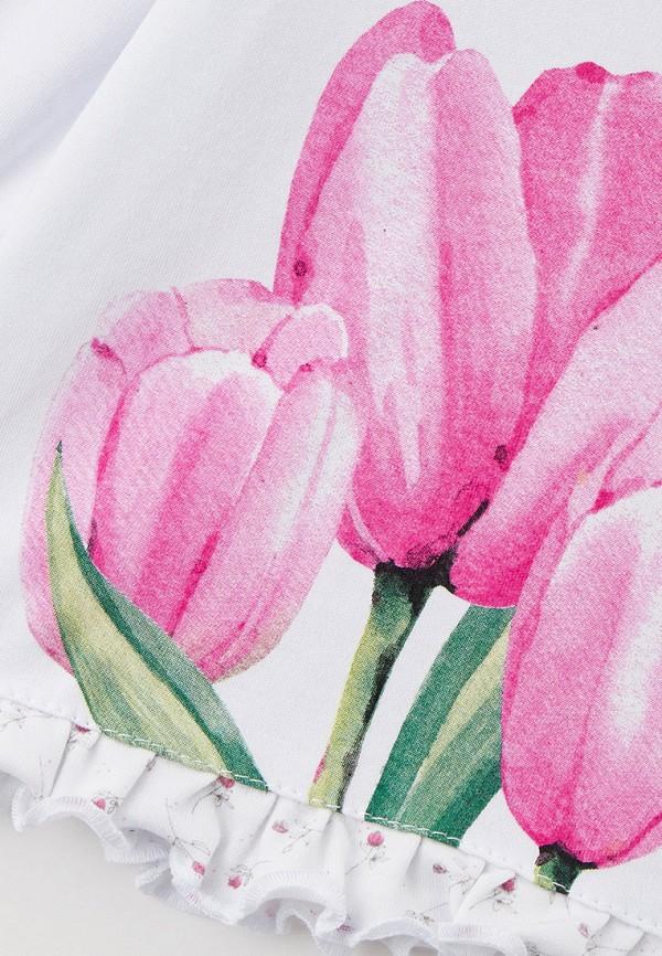 Лонгслив для девочки КотМарКот цвет белый  Фото 3