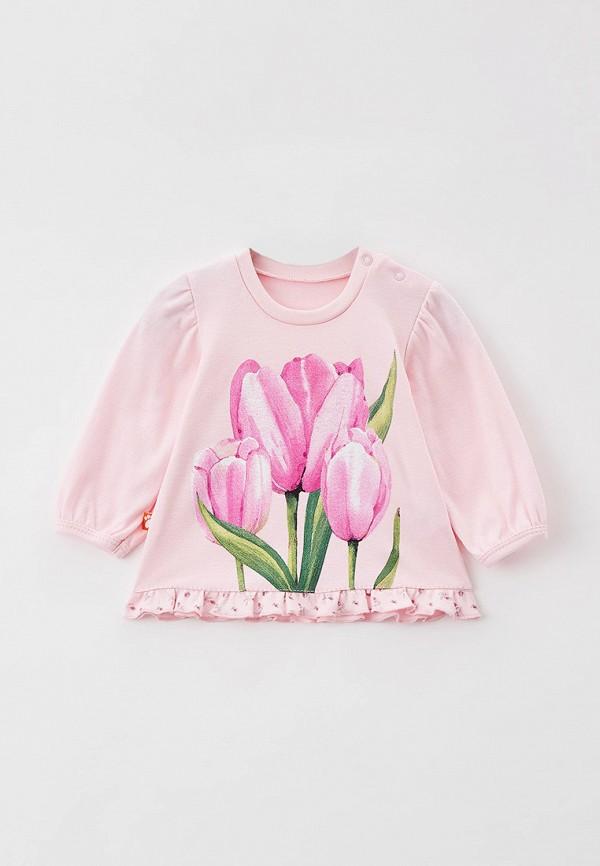 Лонгслив для девочки КотМарКот цвет розовый