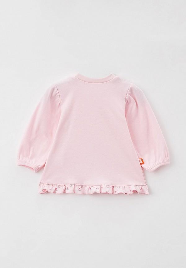 Лонгслив для девочки КотМарКот цвет розовый  Фото 2