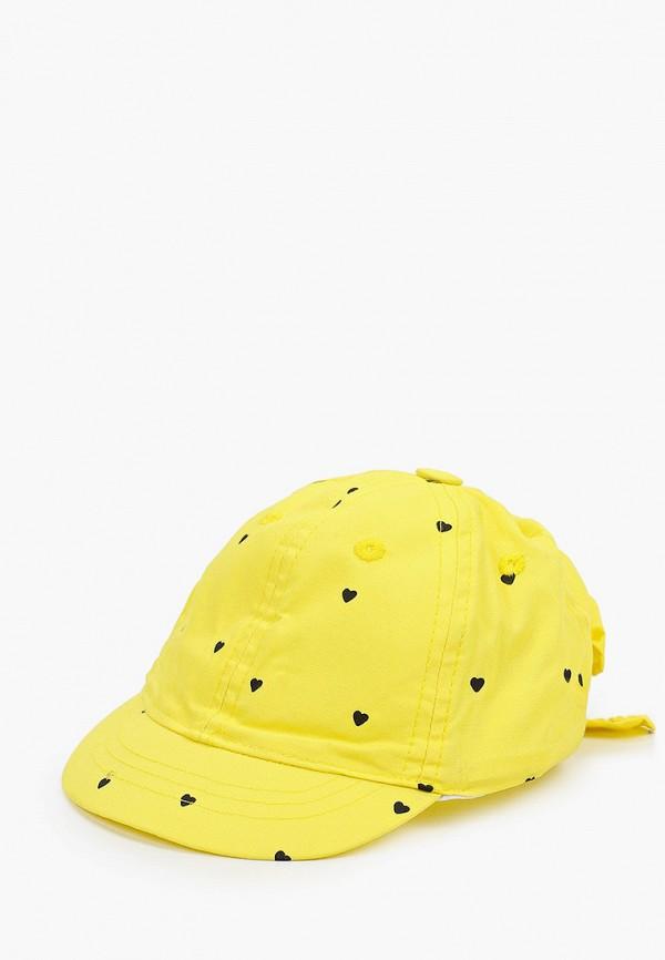 кепка coccodrillo для девочки, желтая