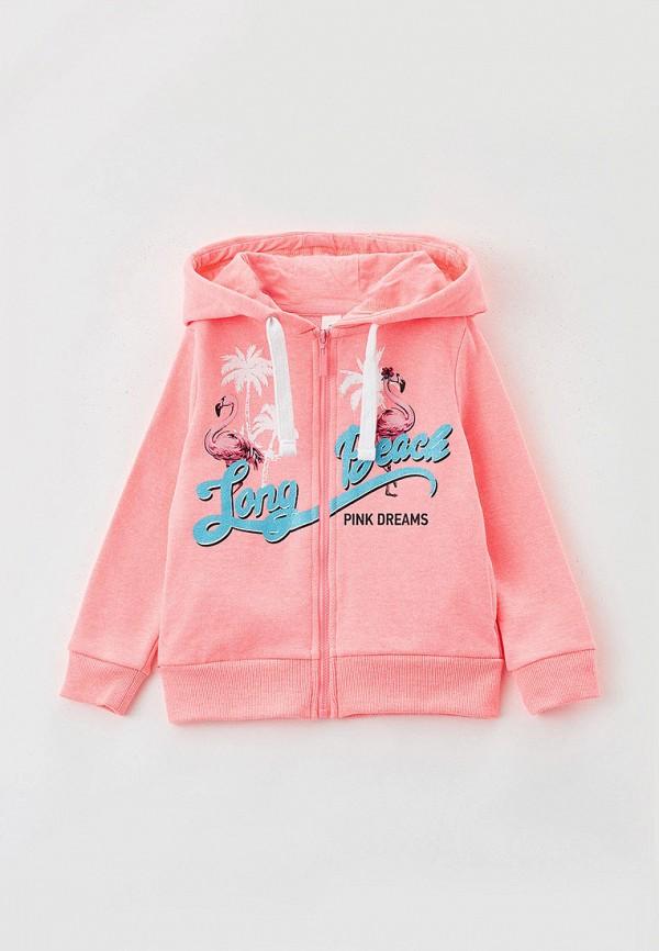 толстовка acoola для девочки, розовая