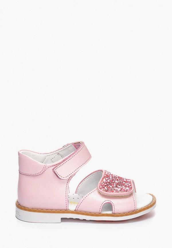 сандалии theo leo для девочки, розовые