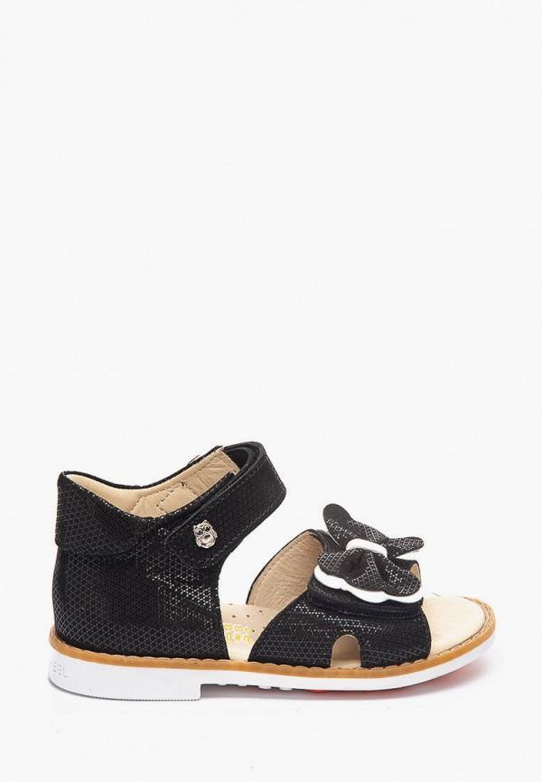 сандалии theo leo для девочки, черные