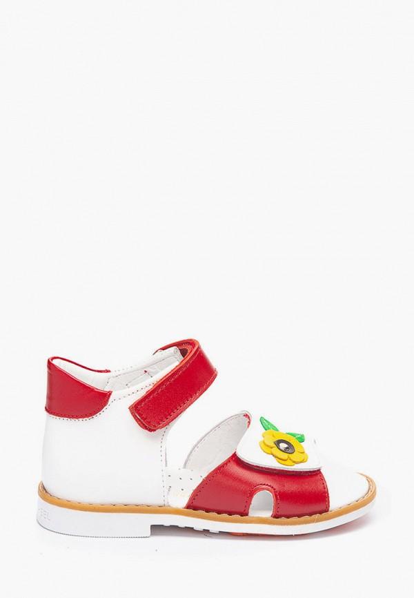 сандалии theo leo для девочки, красные