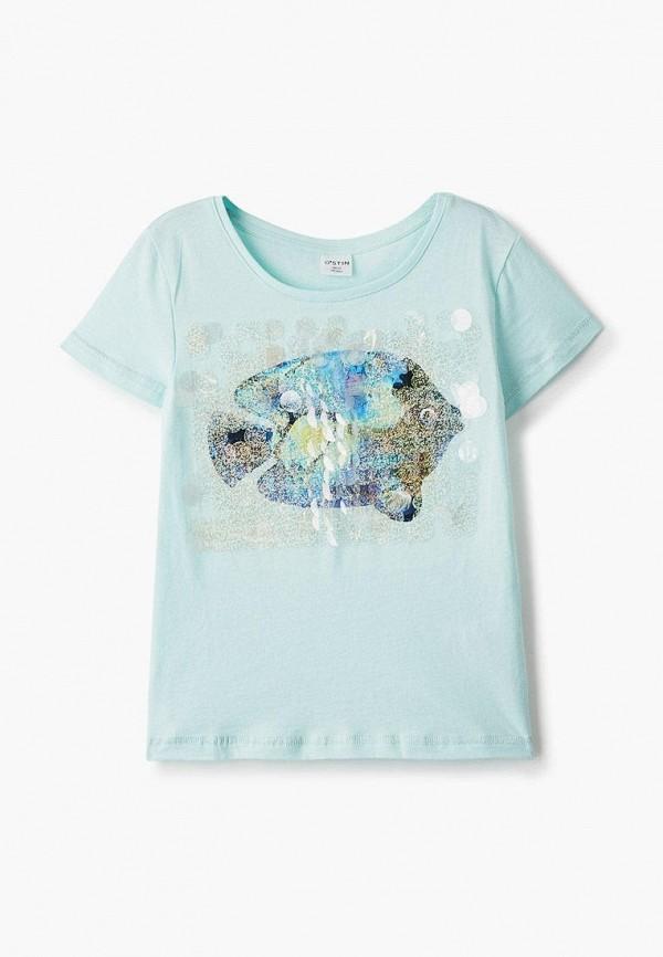 футболка с коротким рукавом o'stin для девочки, голубая
