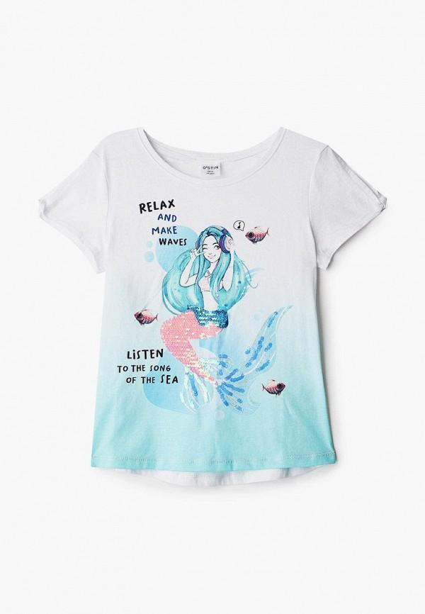 футболка с коротким рукавом o'stin для девочки, белая