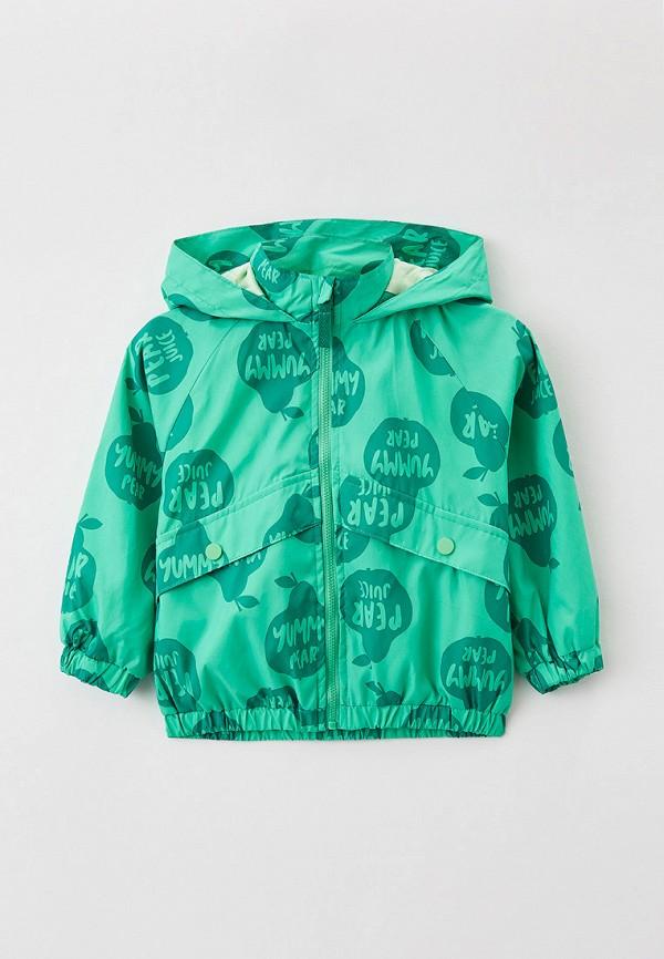 легкие куртка sela для девочки, зеленая