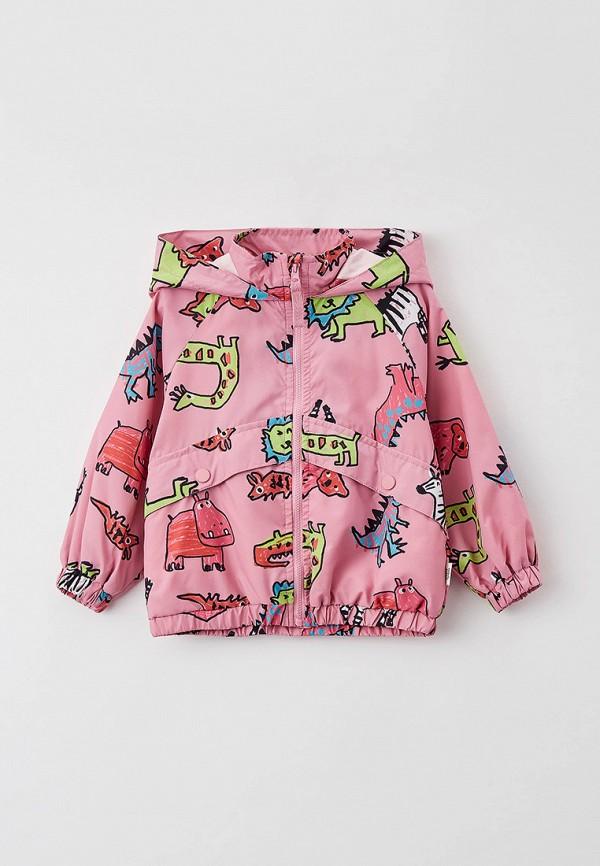 легкие куртка sela для девочки, розовая
