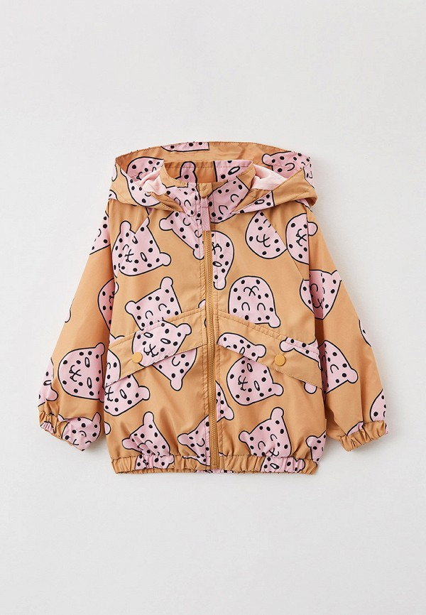 легкие куртка sela для девочки, бежевая