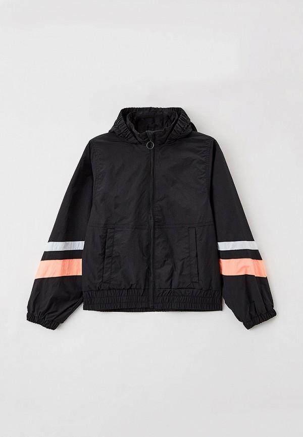 легкие куртка sela для девочки, черная