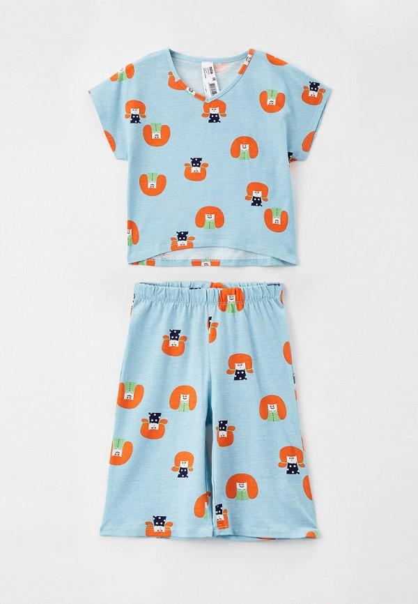 пижама sela для девочки, голубая