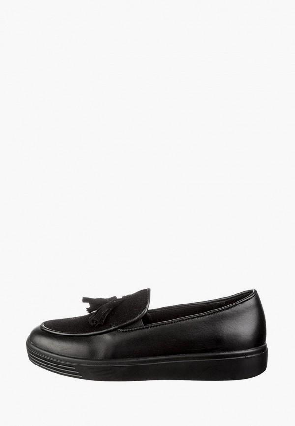 туфли casual для девочки, черные