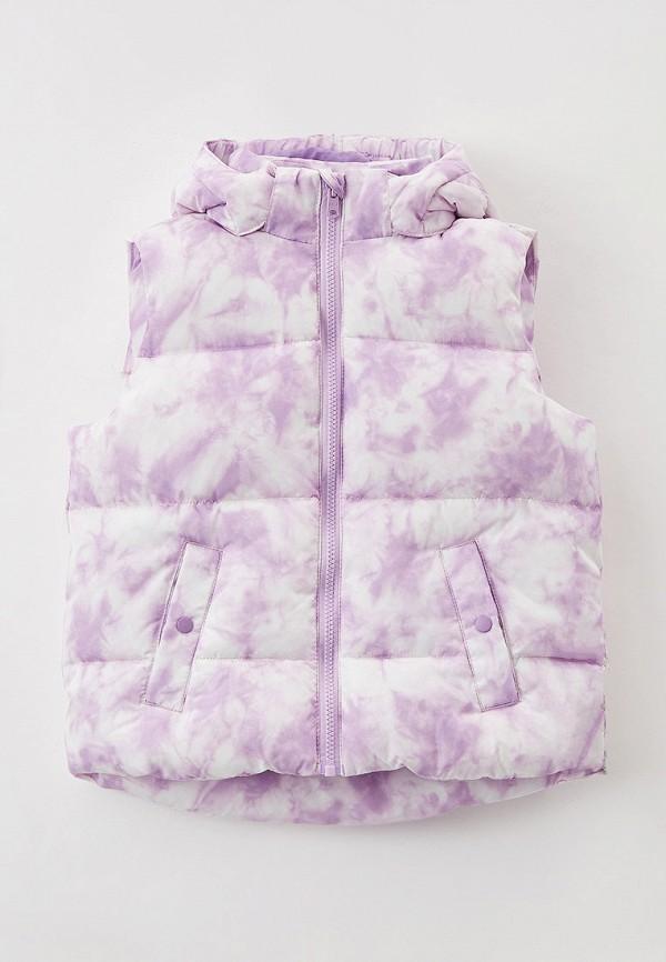 Жилет для девочки утепленный Sela цвет фиолетовый
