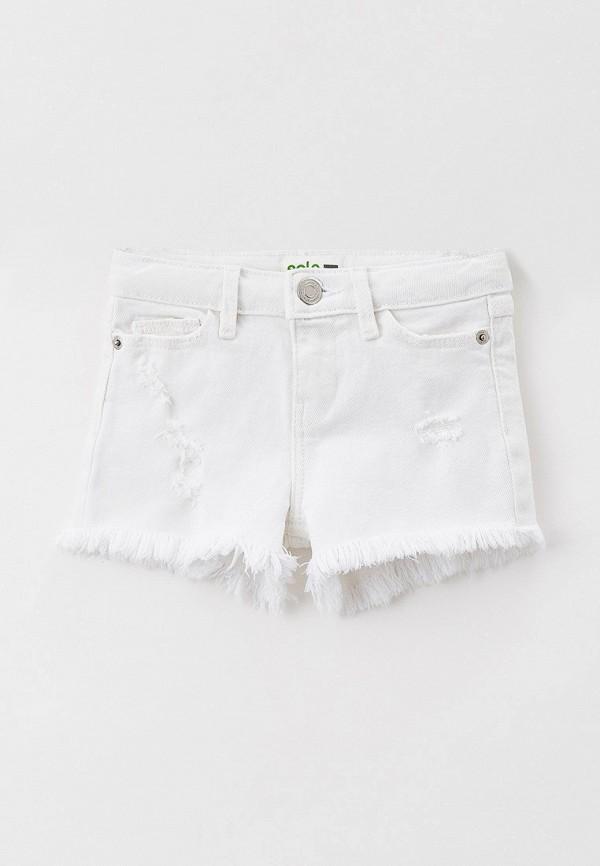 джинсовые шорты sela для девочки, белые