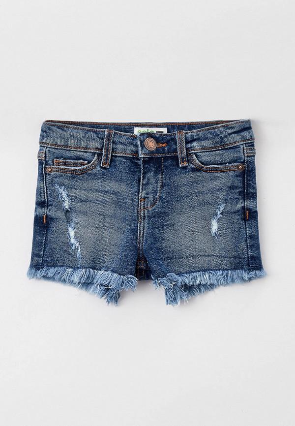 джинсовые шорты sela для девочки, синие